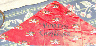 Disney Cruise Lines Red Mickey Mouse Scarf Kerchief souvenir Pirate in Carribean](Pirate Kerchief)
