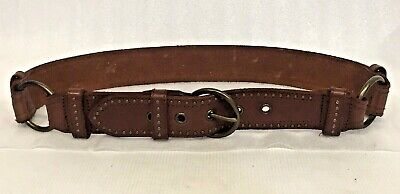 ABERCROMBIE & FITCH Belt Women's Size Small BROWN Leather RIVETED w Brass Rings
