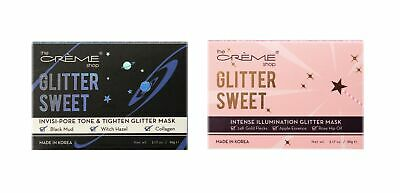 2-PACK or 3-PK Creme Shop Glitter Facial Mask, Invisi-Pore or Intense Illumina