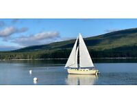 40' Custom Wooden Sailboat with Electric Inboard