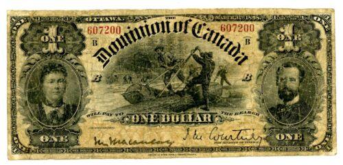 Canada … P-24 … 1 Dollar … 1888 … *VG-F*