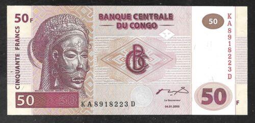 Congo Democratic Republic - 50 Francs Note - 2000 - P91 - Uncirculated