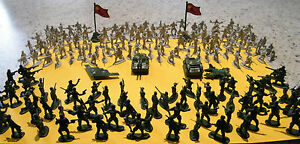 280x WWII Army Military Combat Action Plastic Soldier Tanks Planes Figurines