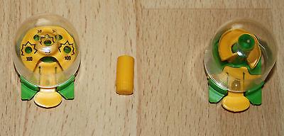 2 Kapsel Geduldspiele Kugelzielspiel Taschenminigolf Ü Ei Spielzeug Kinder 1995