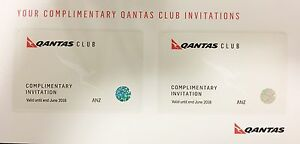 Qantas Club - Domestic/International Pass X 2 (Exp 2018) Rhodes Canada Bay Area Preview