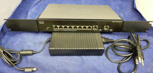 Cisco SG300-10MP 10-Port Gigabit PoE Managed Switch (with rack ears and PS)