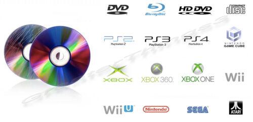 100 Professional Disc Repair CD DVD Games PS Wii Fix Scratch Resurface Service