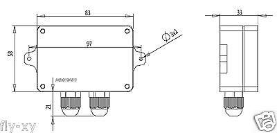 0-5V(10V)/4-20mA Load Cell sensor Amplifier Transmitter