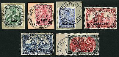 57/DP Türkei Reichspost 12 II-23 II ° Jaffa Jerusalem Beirut Attest Steuer BPP