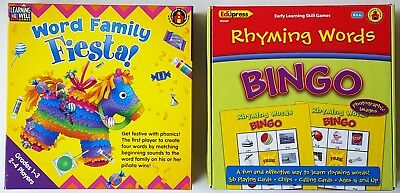 Learning Well Games WORD FAMILY FIESTA and Edupress RHYMING WORDS BINGO EP3509 ()