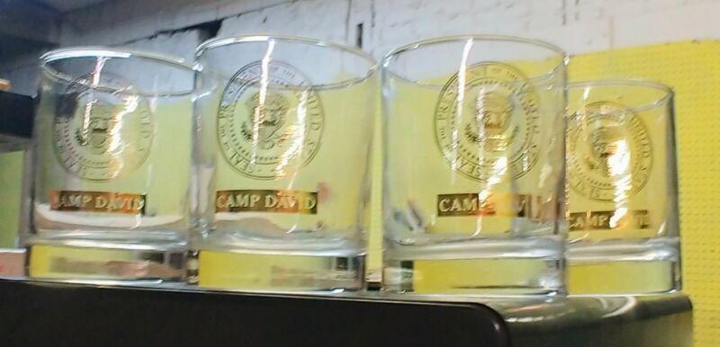 "4 Camp David Presidential Retreat 3.5"" Tumbler / Low Ball Drinking Glasses"