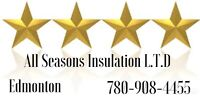 Blown in attic insulation/roof repairs/wet insulation removing