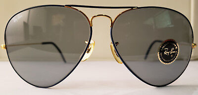 B&L Ray-Ban Aviator Large Metals Flying Colors Arista Blue 62mm Changeables Gray