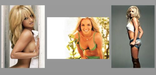 Sexy Britney Spears PHOTO Lot, 3 Gorgeous Sexy Pin-up Hot Girl Pics