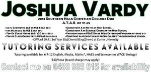 Joshua Vardy Tutor Seville Grove Armadale Area Preview