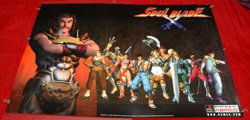 Original Vintage Soul Blade Promo Store Display Poster Playstation PS1 Edge