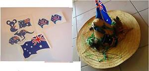 AUSTRALIA DAY Aussie Costume Novelty PARTY Hat & Temp TATTOOS Quinns Rocks Wanneroo Area Preview
