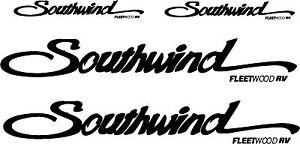 Fleetwood Southwind 4 pc Camper RV Vinyl Decal Sticker Camper Graphics Stickers
