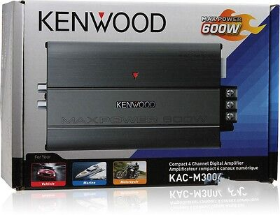 Kenwood Kac M3004 Compact 4 Ch Car Amplifier   50 Watts Rms X 4 Kacm3004