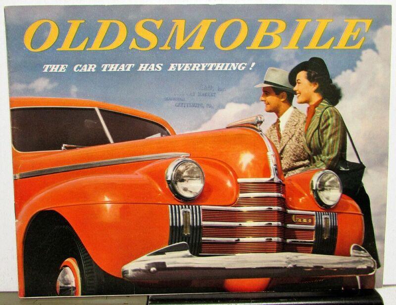 1940 Oldsmobile Series 60 70 90 Original Color Sales Brochure