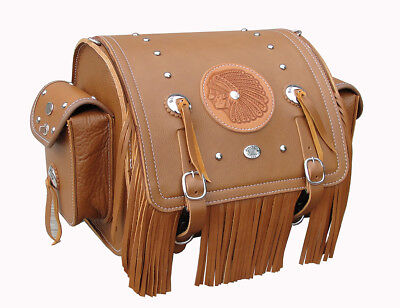 Large Rear Trunk Bag w/Plaqe &Fringe for luggage racks on New Indians 2014-Newer