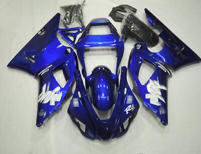 Blue Fairing Kit for Yamaha YZF R1 1998 1999 ABS Injection Plastic Body Work Set
