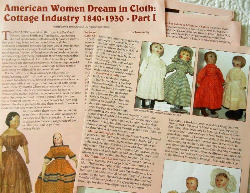 10p History Article - Antique Cloth Doll Industry 1840-1930- Izannah Rag Alabama