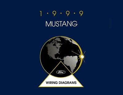 1999 Ford Mustang Wiring Diagrams Schematics Drawings Color Codes Factory OEM