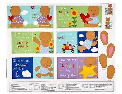 Bunny Honey Child Costume - Studio e Fabrics ~ I Love You Honey Bunny ~ 100% Cotton Soft Fabric Book Panel