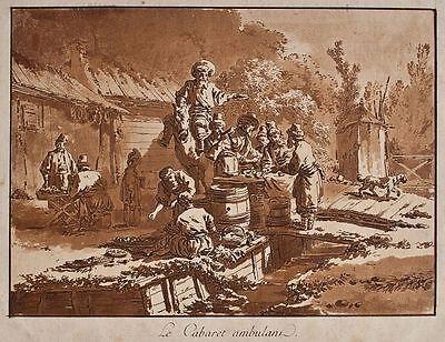 Jean Baptiste Le Prince - Le Cabaret ambulant - Aquatinta - 1771