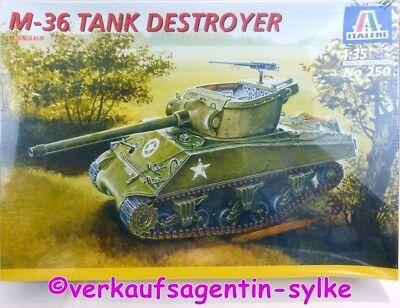 530: Italeri Modellbausatz M-36 TANK DESTROYER, Modellbau-Panzer 1:35, NEU
