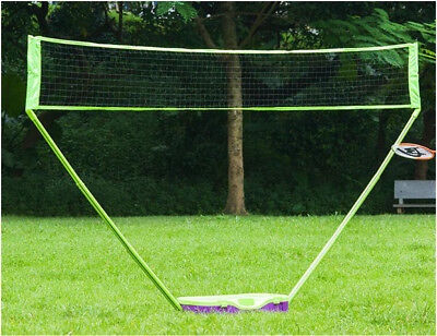 Volleyball Net with Stand Badminton HLC 3 in 1 Outdoor Folding Adjustable Badminton Set,Tennis Battledore