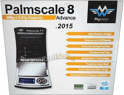 My Weigh PalmScale 8 300 x 0.01 Gram Digital Pocket Mini Scale Precision Jewelry
