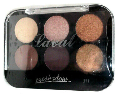 LAVAL EYESHADOW 6 shade Palette BROWNS