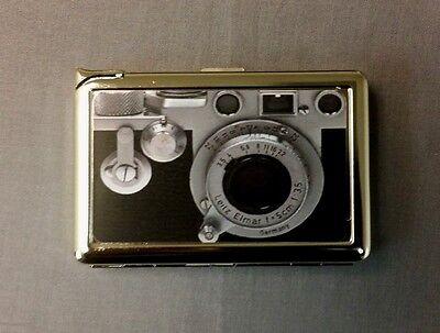 Vintage Retro Camera Image Cigarette Case with lighter ID Holder Wallet D 01