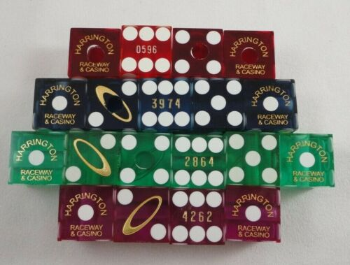 Lot of 19 Harrington Delaware Raceway & Casino Dice