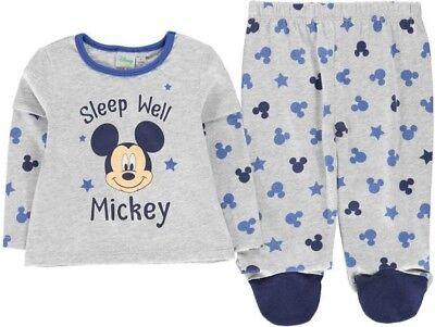 ✅ DISNEY Mickey Maus Mouse Baby Schlafanzug Jungen Hose Pullover Pyjama Set NEU