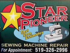 Star Pioneer Sewing Machine Repair - 7 days,$55 Servicing