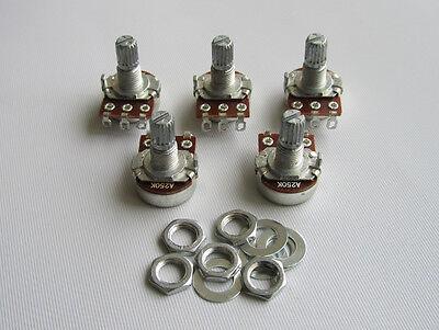 5pcs A250K 16mm Small Base Guitar Audio Pots Short Split Shaft Potentiometers