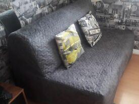 2 Seat Ikea Sofa Bed - Vallarum Grey