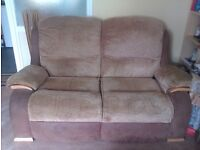 2 SEATER SOFA AND 2 CHAIRS GOOD CONDITION!!