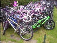 KIDS BIKES NEEDING WORK-IDEAL SPARES-EXPORT-CAR BOOTERS-£10 EACH!!!