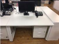 5 x 2 person pod/bench 120cm x 80cm office desk/table £140 each pod set