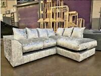 Brand new crushed velvet corner sofa sets 😍🔥✅