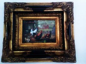 ORIGINAL UNIQUE UNUSUAL REAL OIL PAINTING, PICTURE, PHOTO, PRINT, IN STUNNING FRAME
