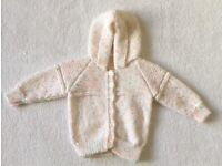 Baby Girl Hand Knitted Cardigan 3 - 6 Months