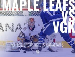 TIKTIKS | Leafs vs Golden Knights Nov 6th @ Scotiabank Arena | Cheaper than TM. CAD$. No Fees. Canadian Company!