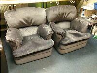 Set of two nice grey armchairs