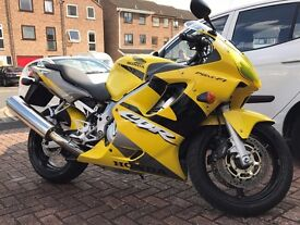 Honda CBR600 F1 - 1 Lady Owner from new. Very Reluctant sale of my Yellow CBR600F1