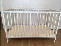 Ikea baby cot and foam mattress